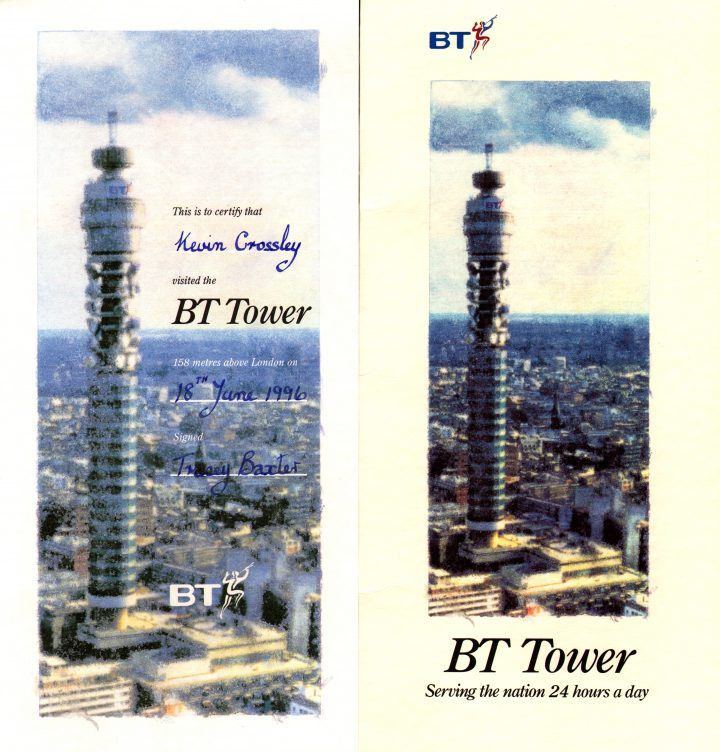 Actua Soccer – BT Tower Memento